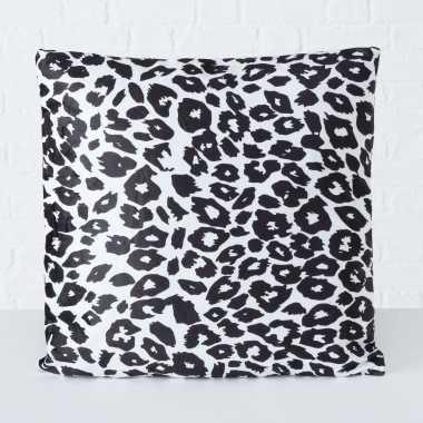 1x bank kussentjes luipaard woondecoratie cadeau 45 x 45 cm
