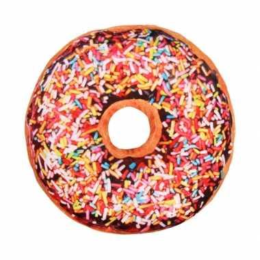 bank kussen donut chocolade originele. Black Bedroom Furniture Sets. Home Design Ideas