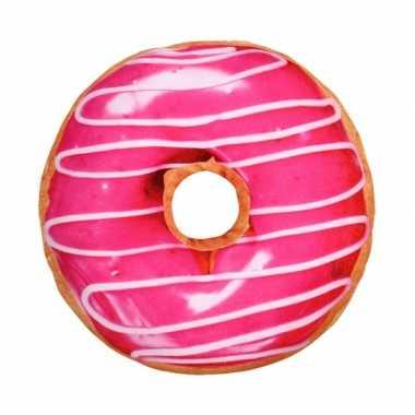 Bank kussen donut roze