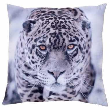 Bank kussentje panter/jaguar woondecoratie cadeau