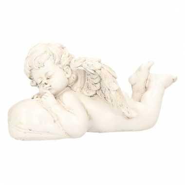 Beeld van engeltje op een kussen 17 x 10 x 9 cm