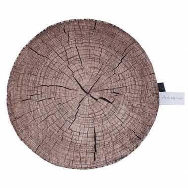 Boomstronk/boomstam zitkussen 40 cm