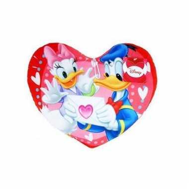 Disney Donald en Katrien Duck kussen 45 cm