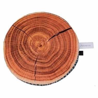 Eik boomstronk/boomstam zitkussen 40 cm
