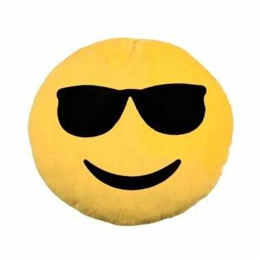 Emoticons sierkussen cool 30 cm