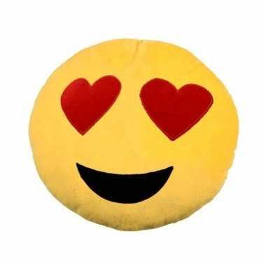 Emoticons sierkussen love 30 cm