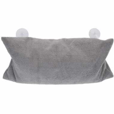 Grijs badkussen met zuignappen