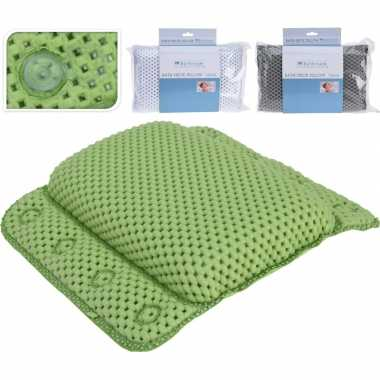 Groen badkussen met zuignappen