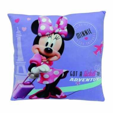 Kinder kussen Minnie Mouse 35 cm