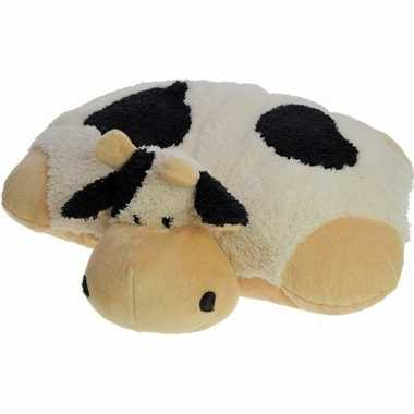 Koe/koeien knuffelbeest kussen 45 x 30 cm