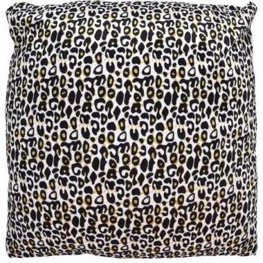 Kussen met cheetah print 45 cm