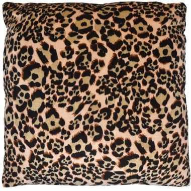 Kussen met luipaard print 45 cm