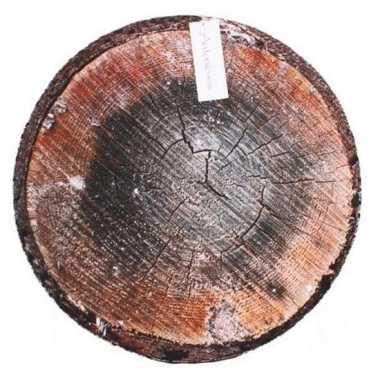 Populier boomstronk/boomstam zitkussen 40 cm