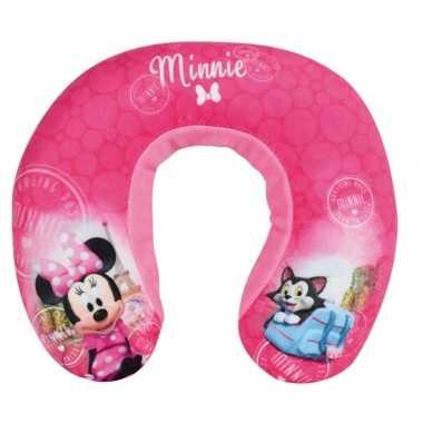 Roze minnie mouse nek kussen voor meisjes