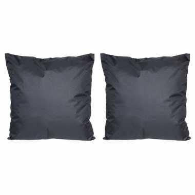 Set van 2x stuks bank/sier kussens voor binnen en buiten in de kleur
