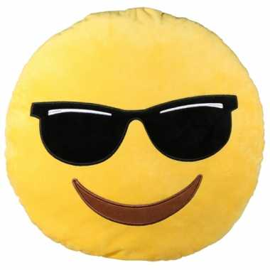 Sierkussen emoticon cool 50 cm