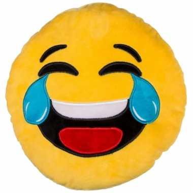 Sierkussen emoticon lachend 30 cm