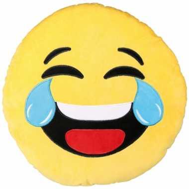 Sierkussen emoticon lachend 50 cm