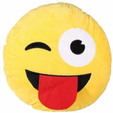 Sierkussen emoticon ontdeugend 50 cm