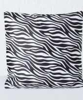 2x bank kussentjes zebra woondecoratie cadeau 45 x 45 cm