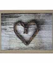 2x schootkussen laptray hart print 43 x 33 cm