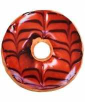 Bank kussen chocolade donut