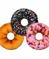 Bank kussen donut bruin 30 cm