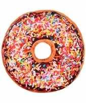 Bank kussen donut chocolade