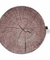 Boomstronk boomstam zitkussen 40 cm