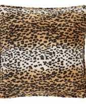 Fluwelen kussen met luipaardprint 47 x 47 cm