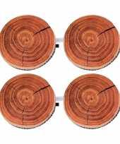 Set van 10x stuks eik boomstronk boomstam zitkussens 40 cm
