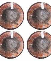 Set van 10x stuks populier boomstronk boomstam zitkussens 40 cm