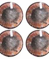 Set van 8x stuks populier boomstronk boomstam zitkussens 40 cm