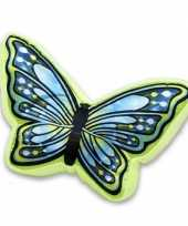 Sierkussen in vlindervorm groen blauw 50 cm